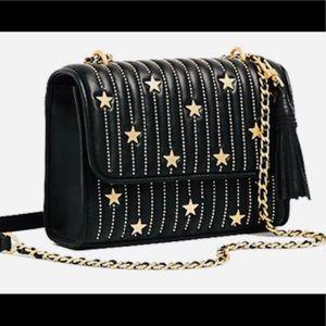 """Black leather """"Fleming"""" clutch/ shoulder bag"""